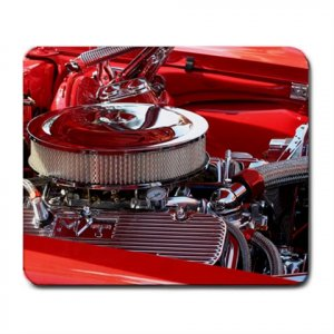 Mousepad Bright red Camaro engine very shiny classic car FREE SHIPPING
