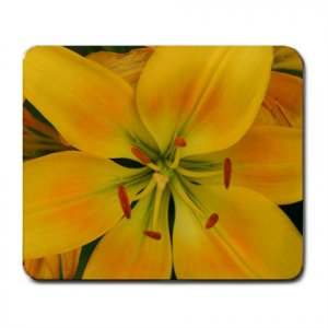 Mousepad Yellow Lily FREE SHIPPING