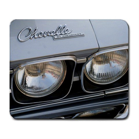 Mousepad Silver Chevelle  classic car  FREE SHIPPING
