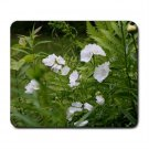 Mousepad white flowers  FREE SHIPPING