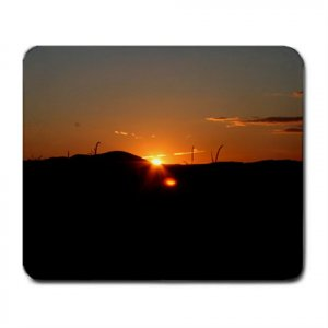 Mousepad sunset in the field FREE SHIPPING