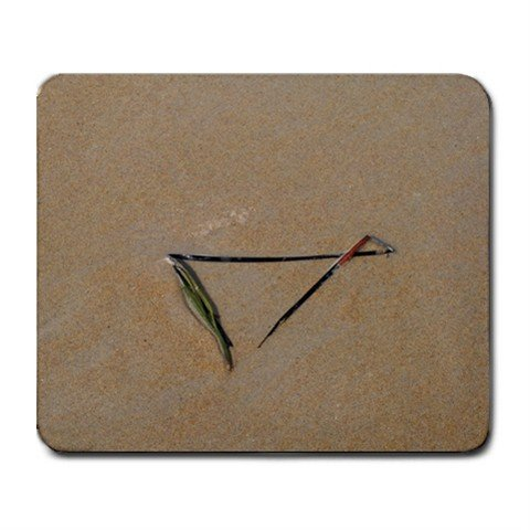 Mousepad FREE SHIPPING Triangle seaweed beach ocean sand summer