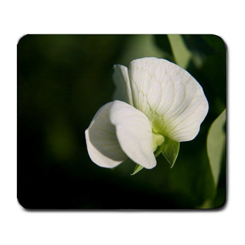 Mousepad FREE SHIPPING White sweet Pea