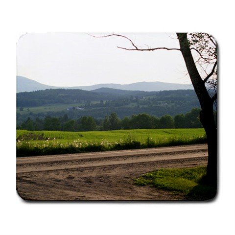 Mousepad FREE SHIPPING dirt road mountains and tree