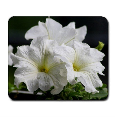 Mousepad FREE SHIPPING white flowers