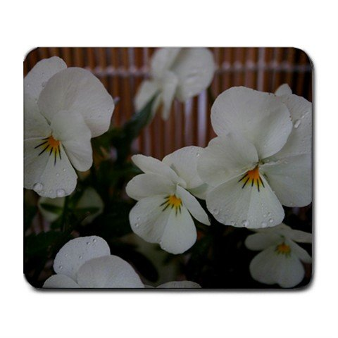 Mousepad FREE SHIPPING really nice pansy white small