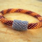 Czech Glass Bead Crochet Bracelet with Convertible Bead