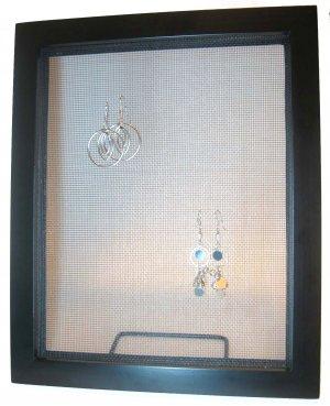 Classy Black Wood Earring Frame Display Holder 9x11