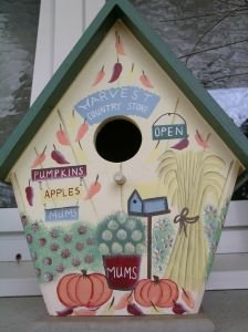 Handcrafted Harvest Birdhouse