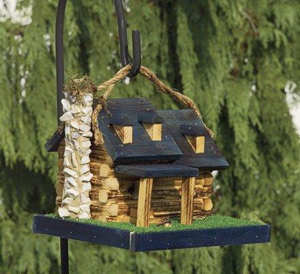 Handcrafted Log Cabin Birdhouse