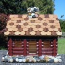 Handcrafted Log Cabin Inspired Birdhouse - NEW!