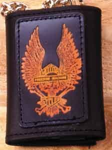 Golden Eagle Leather Biker Wallet