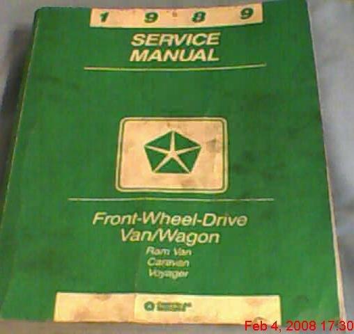 81-370-9005 Chrysler Motors service Manual 1989