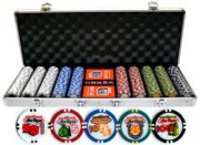 500 PIECE PRO CASINO SIZE LAS VEGAS CLAY CHIP WITH ALUMINUM CASE
