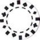 50PCS 13.5GRAM DOUBLE SUIT CLAY POKER CHIPS - WHITE