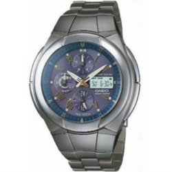 Casio WVA510TDA-9AV Wave Ceptor Atomic Solar Watch Titanium Band Gray Dial Mens Analog Digital