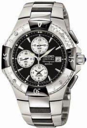 Seiko Coutura Alarm Chronograph Stainless Steel Watch