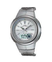 Casio Waveceptor Watch Silver with Silver Bracelet