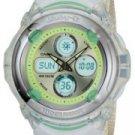 Casio Green Baby-G Analog and Digital Watch