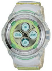 Casio Green Baby-G Analog and Digital Watch