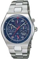 Casio Blue Redline Mens Watch with a Metal Band featuring Analog Timekeeping
