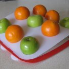 Fruit Platter - White Top, Red Base