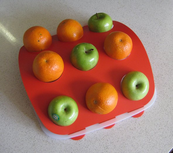 Fruit Platter - Red Top, White Base