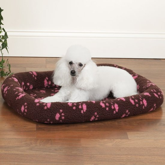 Slumber Pet Paw Print Crate Bed MEDIUM SIZE