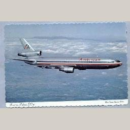 American Airlines DC-10 Postcard