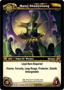 WoW World of Warcraft TCG -- Maiev Shadowsong