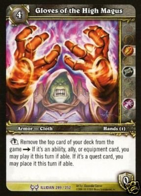 WoW World of Warcraft TCG -- Gloves of the High Magus