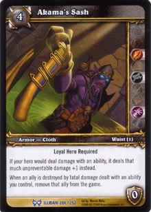 WoW World of Warcraft TCG -- Akama's Sash