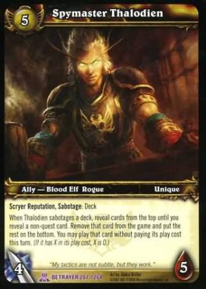 WoW World of Warcraft TCG -- Spymaster Thalodien