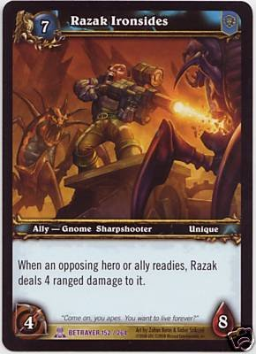 WoW World of Warcraft TCG -- Razak Ironsides