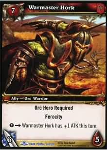 WoW World of Warcraft TCG -- Warmaster Hork