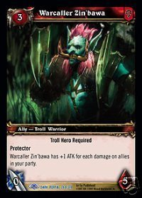 WoW World of Warcraft TCG -- Warcaller Zin'bawa