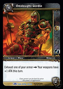 WoW World of Warcraft TCG -- Onslaught Girdle