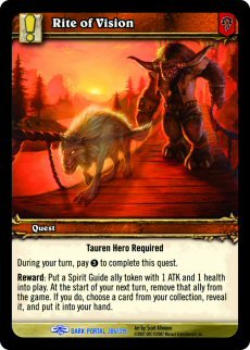 WoW World of Warcraft TCG -- Rite of Vision