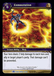 WoW World of Warcraft TCG -- Consecration