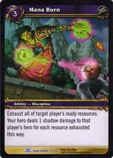 WoW World of Warcraft TCG -- Mana Burn