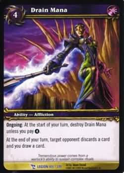 WoW World of Warcraft TCG -- Drain Mana