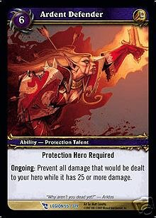 WoW World of Warcraft TCG -- Ardent Defender