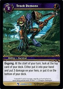 WoW World of Warcraft TCG -- Track Demons