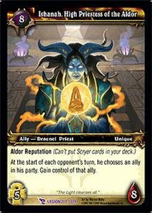 WoW World of Warcraft TCG -- Ishanah, High Priestess of the Aldor