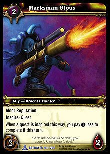 WoW World of Warcraft TCG ---- Marksman Glous