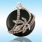 Black Onyx Sterling Silver Victorian Pendant