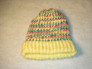 Yellow Multi Colored Hat