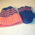 Dark Pink and Navy Blue Hat
