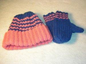 Dark Pink and Navy Blue Hat