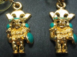 sipan little warrior 20 mm earrings